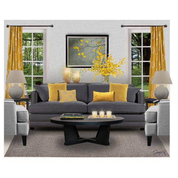 Yellow Gray Living Room Decor Gray Decor Home Living Room Living Room Decor Colors Grey yellow living room decor