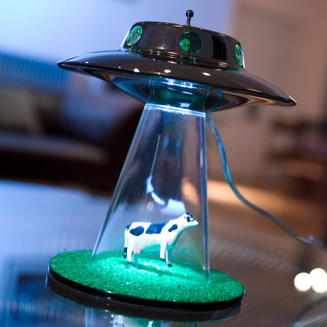 Alien Abduction Lamp: So, I Have The Pilsner Glass And The Lantern Top. But  This Is Pretty Clever
