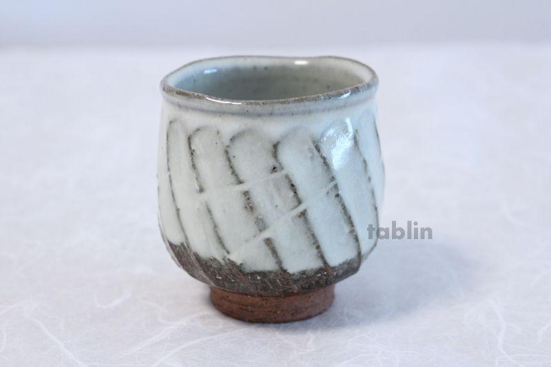 Hagi Yaki Ware Japanese Tea Cups Pottery White Glaze Yunomi Ki Set Of 2 Japanese Tea Cups Pottery Japanese Tea