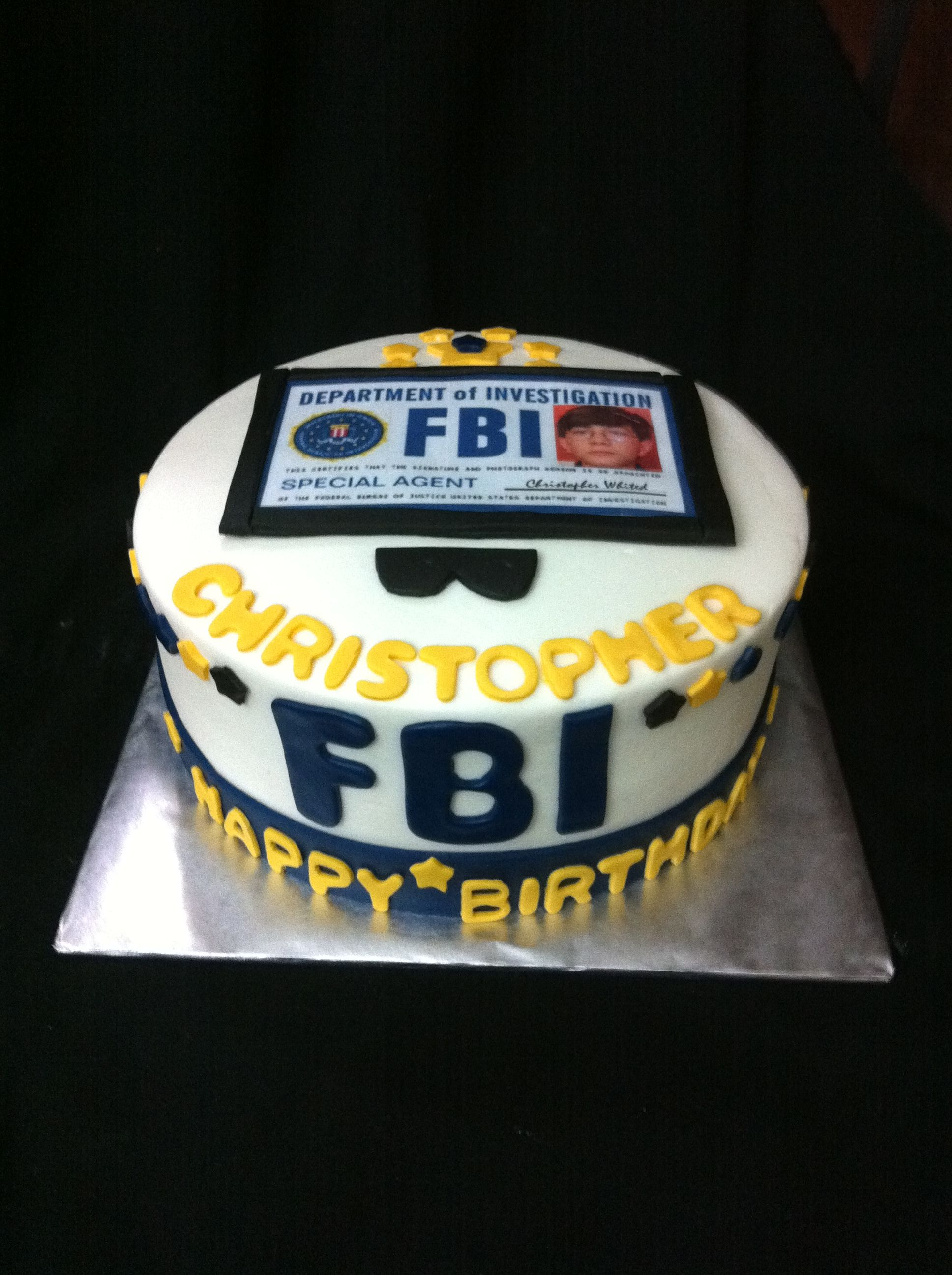 FBI Cake FBI cake for a young man need to do Pinterest Young