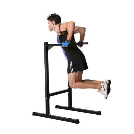 Black Heavy Duty Dip Station Stand Home Gym Trainer Parallel Bar Fitness Workout