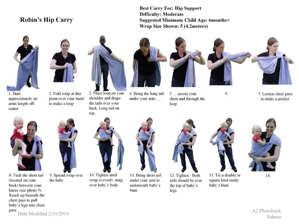 Hip Carry Fluff And Baby Wearing Baby Wrap Carrier Boba Wrap