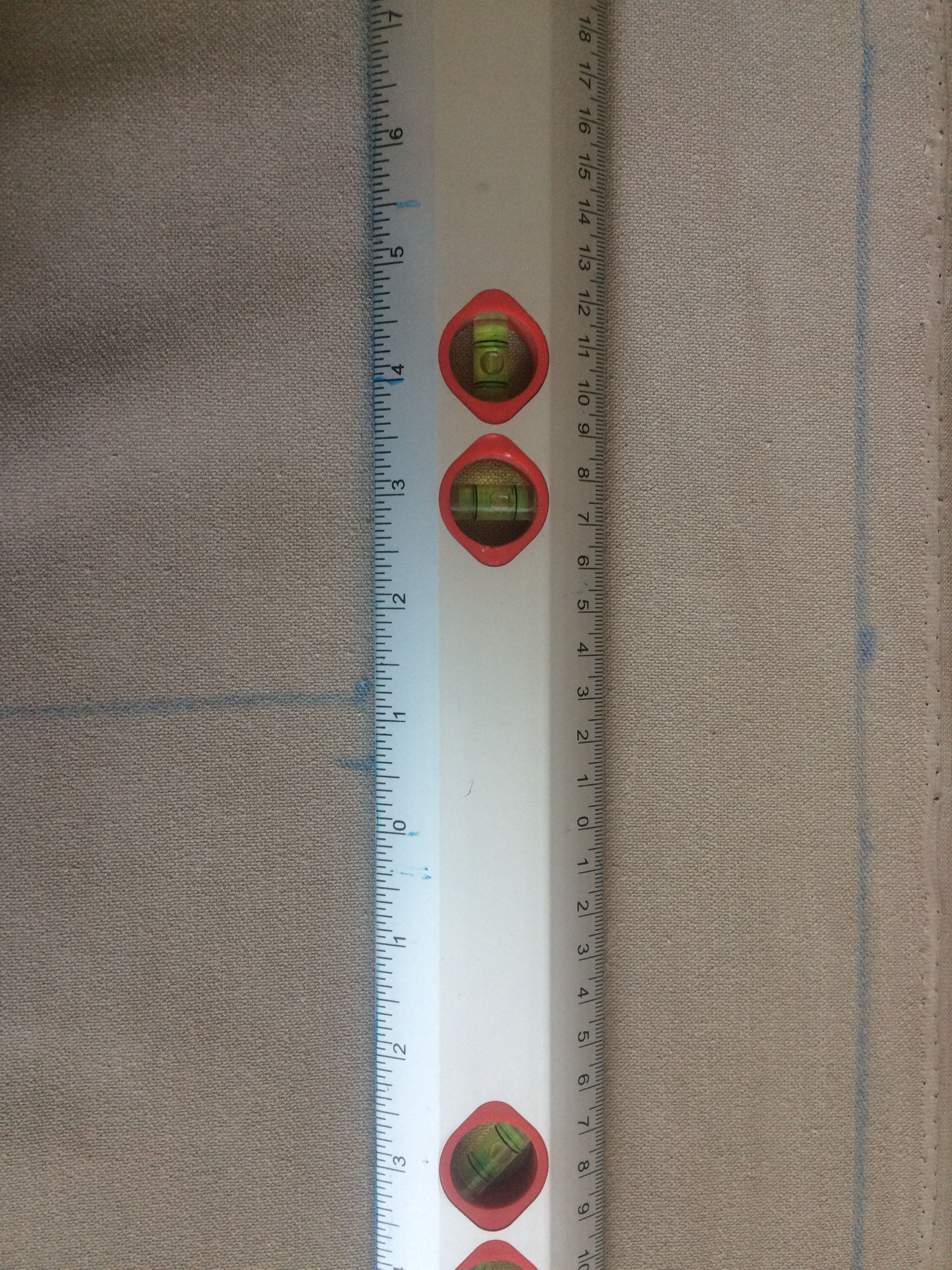Measure twice cut once.  Heard this advice several times but very true. Use hubbies tools too BONUS !!