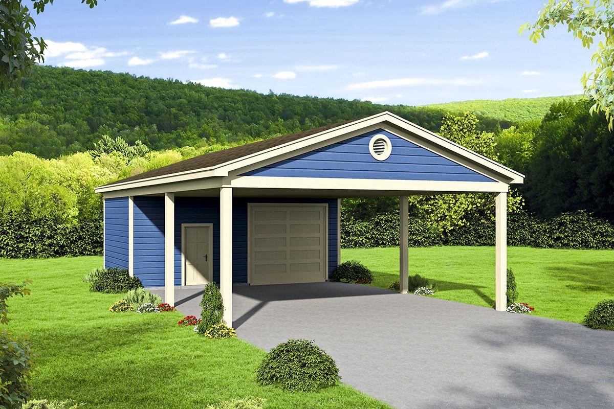 Plan 68614vr Carport Plan With Workshop In 2020 Carport Plans 3 Car Garage Plans Craftsman House Plans