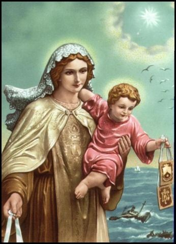 Happy Feast Day to Our Lady of Mt  Carmel | 100% Catholic | Lady of