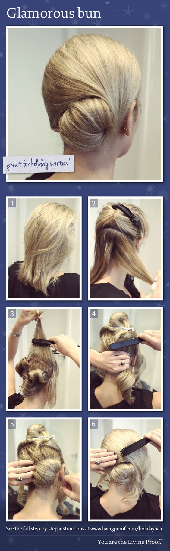 Living proof holiday hair styles glamorous bun hairstyles