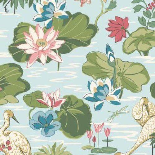York Stylemakers LAKE AGAWAM MC0406 Wallpaper Toile