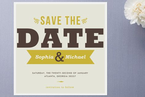 Don't Forget Save the Date Cards by chica design at minted.com