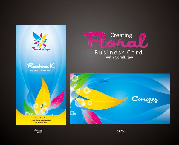 Corel Draw Business Card Design Engraving Whimsy Pinterest