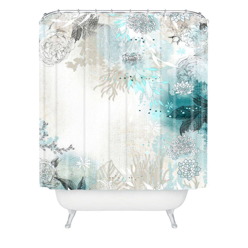 Iveta Abolina Seafoam Shower Curtain Deny Designs Home