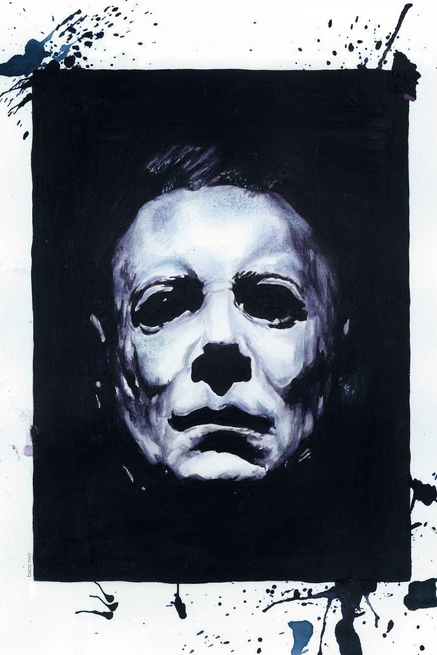 Halloween les psychopathes célèbres peints avec… du vin