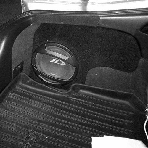 2002 2006 acura rsx custom fiberglass subwoofer enclosure custom