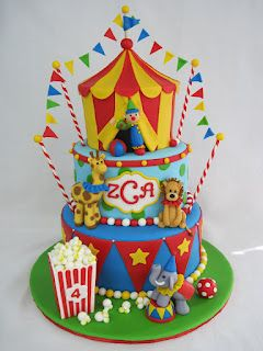 Superb Heathers Cakes And Confections Bolo Circo Bolo De Carnaval Personalised Birthday Cards Bromeletsinfo