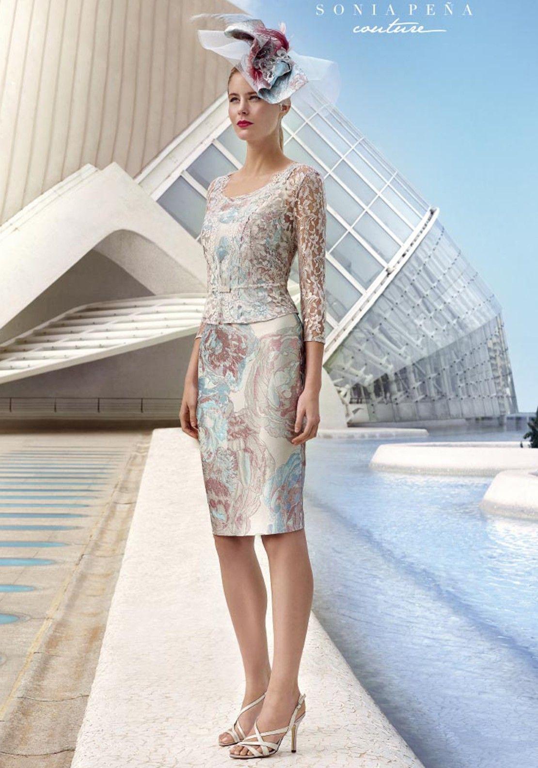 bad5172e8 Sonia Pena Floral Dress & Lace Jacket, Silver Multi in 2019 | moda ...