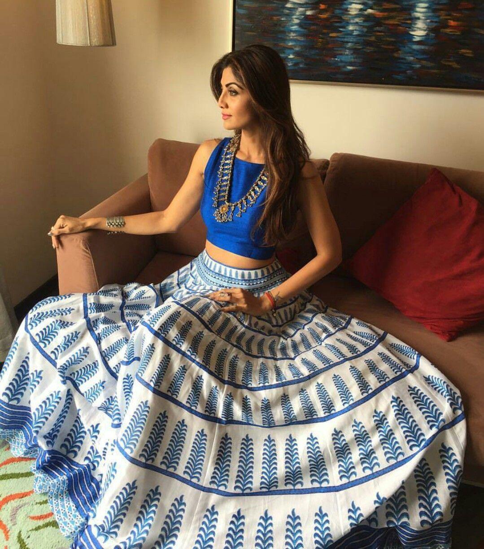 Shilpa Shetty in Anita Dongre | Indian skirt, Indian wear, Indian attire