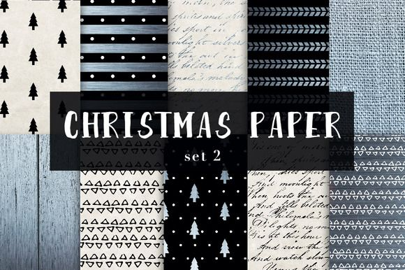 Christmas digital papers set 2 by GraphicRain on @creativemarket
