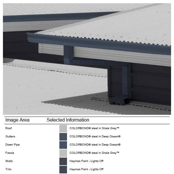 Exterior - Gutter - Colour selection done with Colorbond Online Visualiser