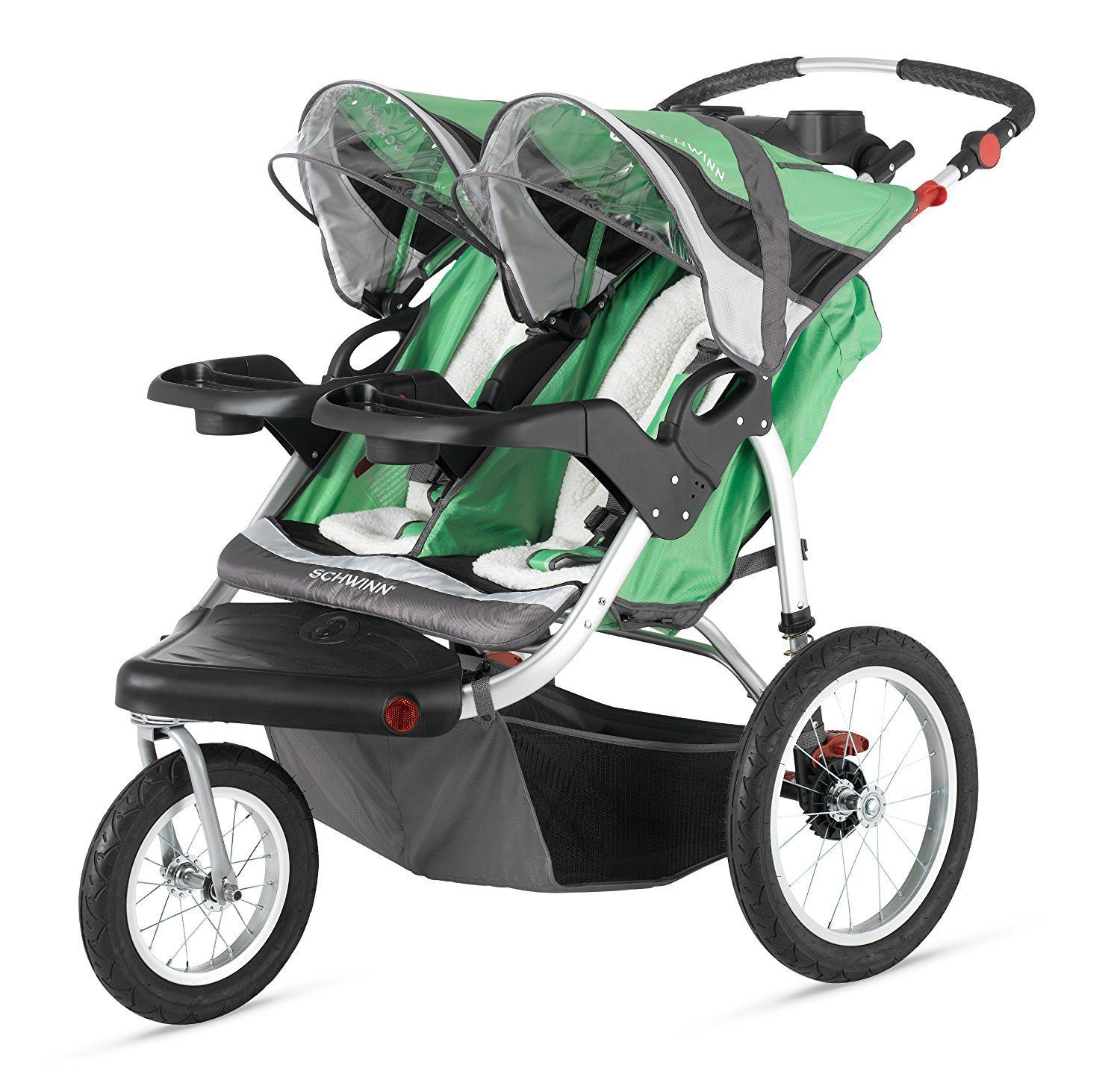 Best Double Jogging Stroller Schwinn Turismo Swivel Double Jogger