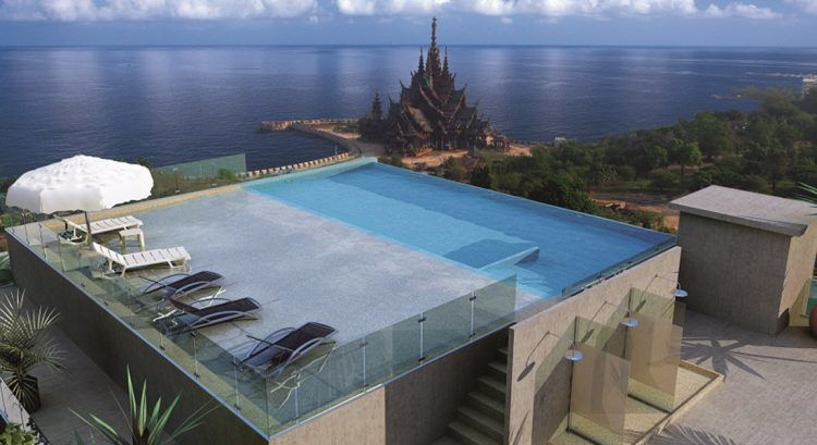 20 Of The Most Incredible Residential Rooftop Pool Ideas Rooftop Pool Swimming Pools Swimming Pool Designs