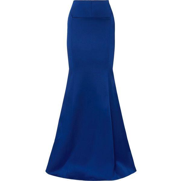 Aries Duchesse-satin Maxi Skirt - Cobalt blue Roland Mouret d9TGr