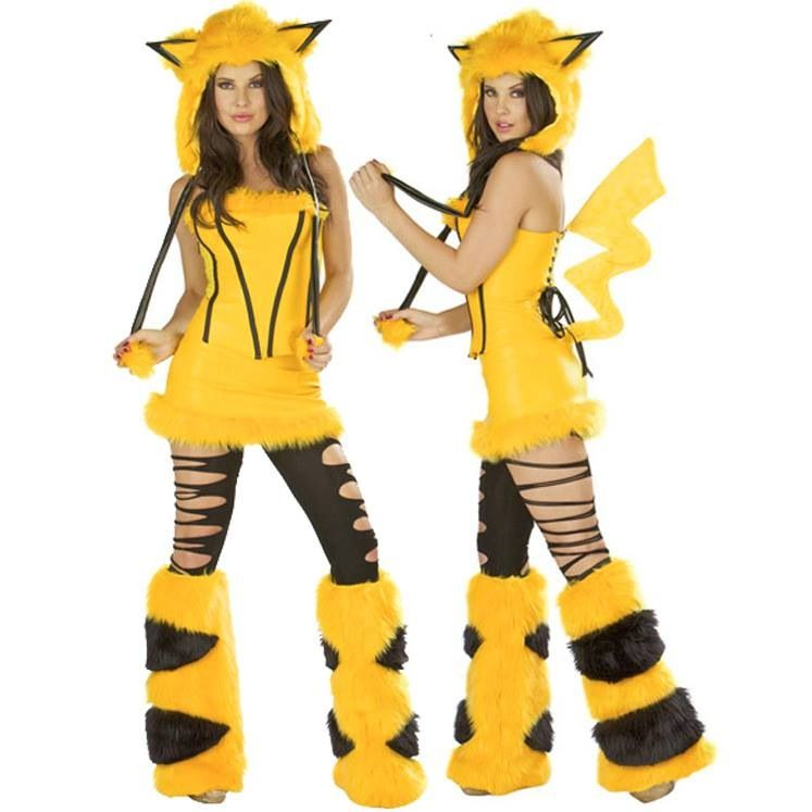 new Sexy Halloween Female clothes Yellow Pikachu Costumes Cosplay Costume free Size for Halloween hot sale pikachu costume  sc 1 st  Pinterest & Pikachu rave girl so cool | Deviant Raver | Pinterest | Rave girls ...