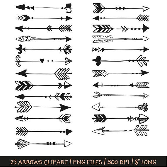 Buy 3 Pay For 2 Arrows And Feathers Clip Art Hand Drawn Etsy Feather Clip Art Arrow Drawing Hand Drawn Arrows