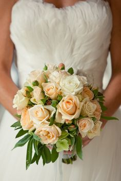 Peach Avalanche Bouquet Bridal Bouquets Pinterest