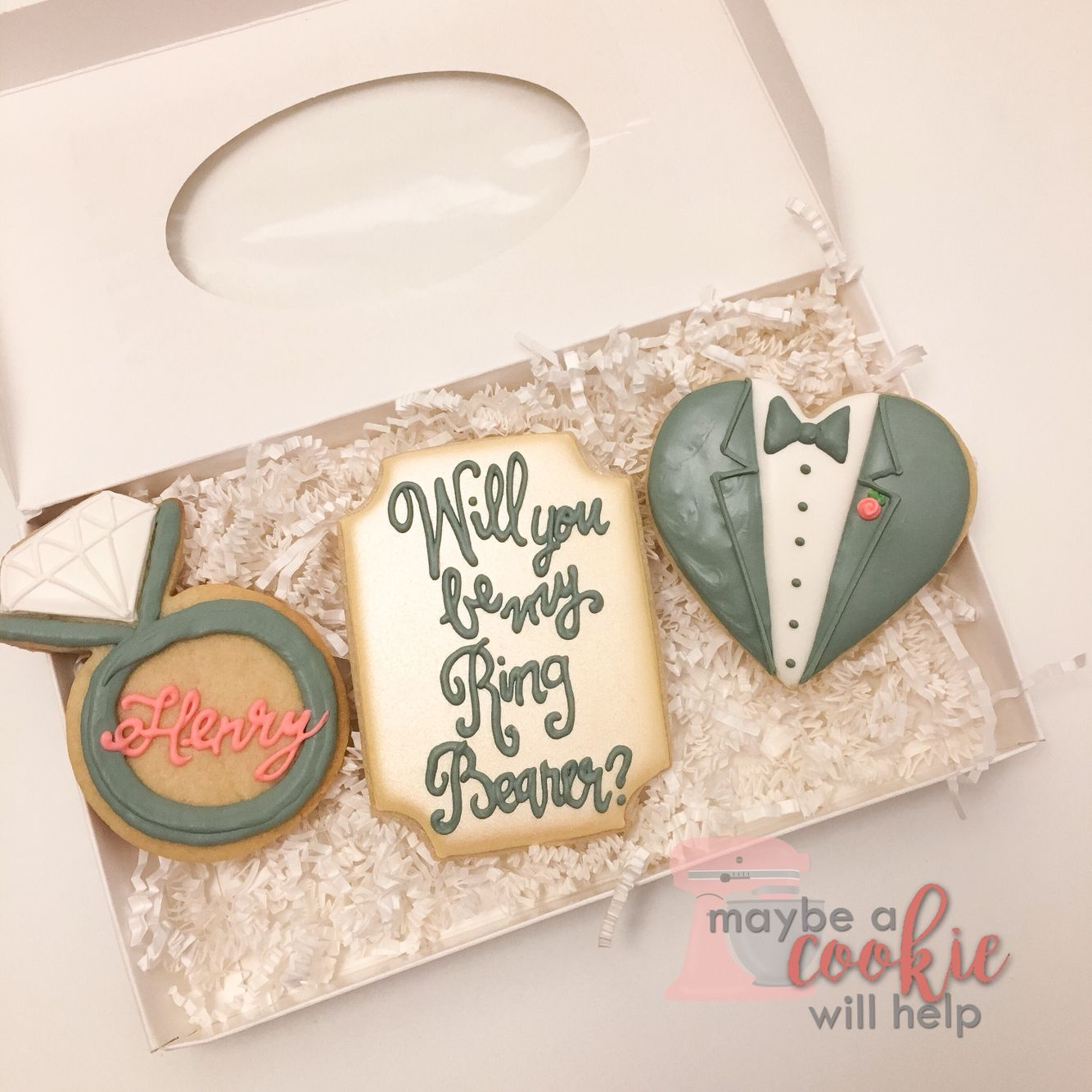 Be my ring bearer cookie set