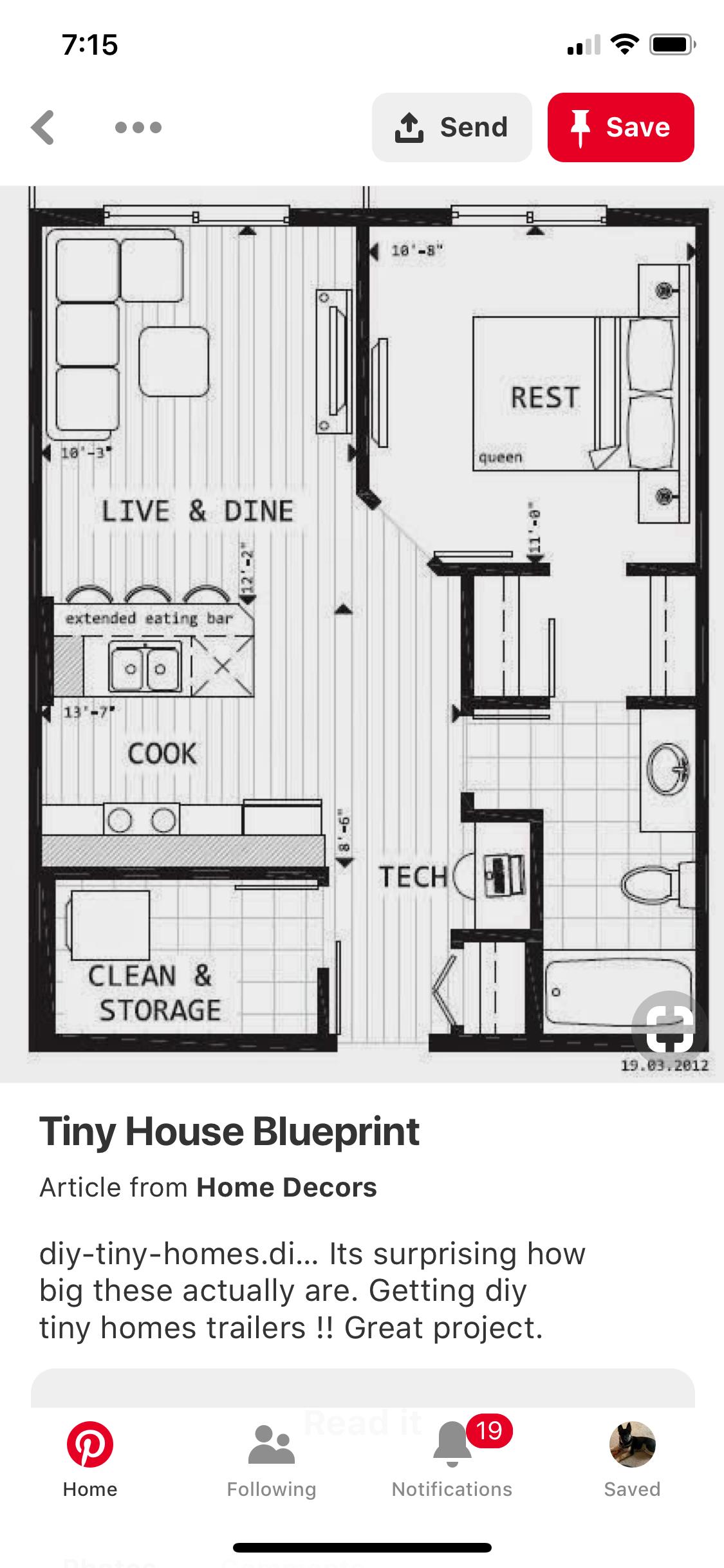 21 X 26 Tiny House Layout House Layout Plans Tiny House Plans