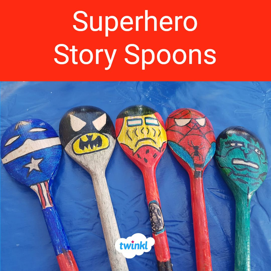 Simple and cost effective superhero story spoons! Bring a ...