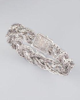 #JohnHardy Diamond Braided Chain #Bracelet $1,795.00 @Neiman Marcus via Catalog Spree!
