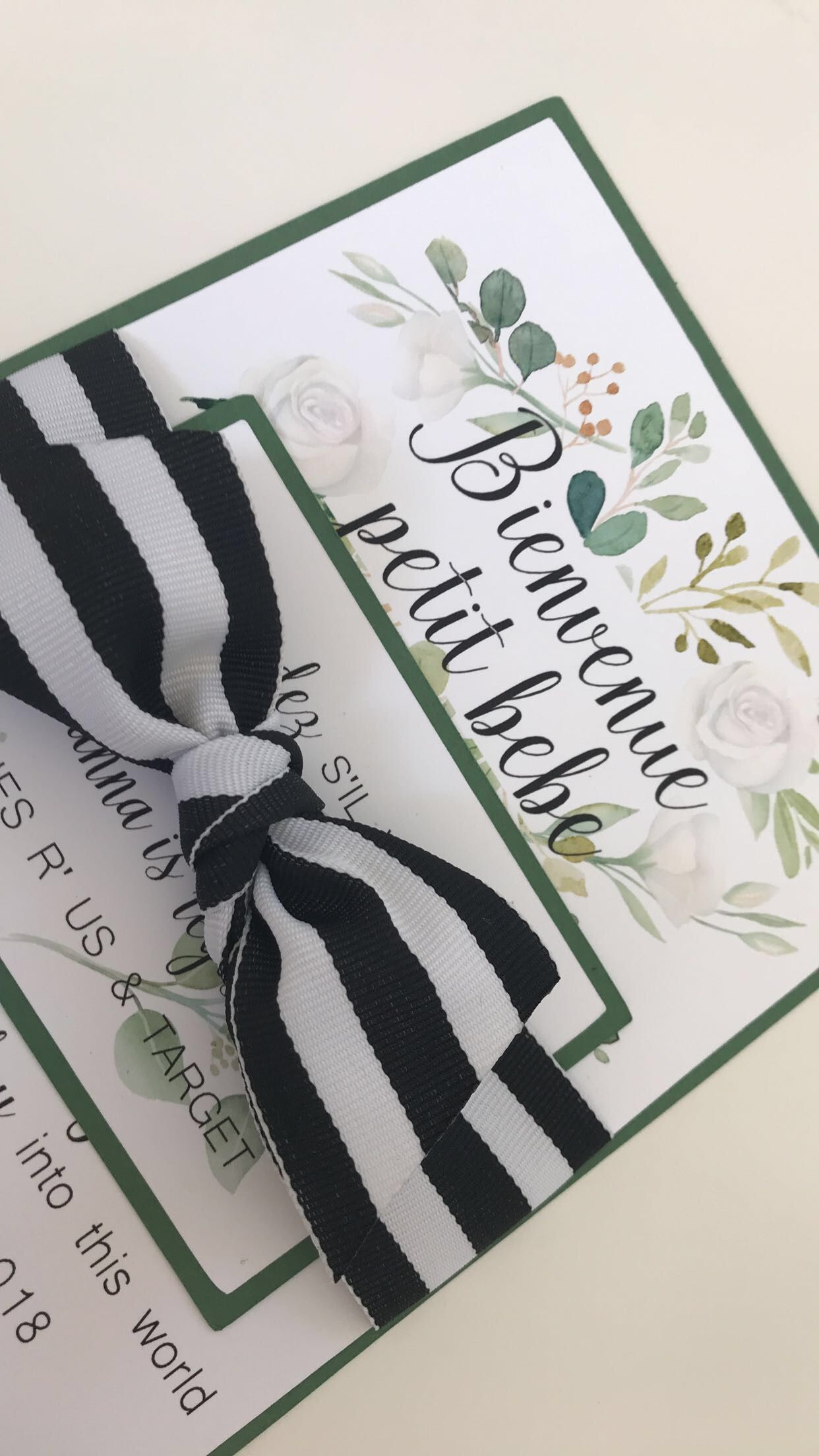 Green And White Floral Theme For My Baby Shower Inspired
