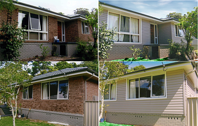 Vinyl Cladding Used Over Brick On The Central Coast