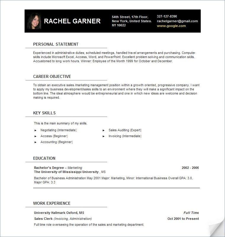 Open Office Template Resume. Cover Letter Templates Resume