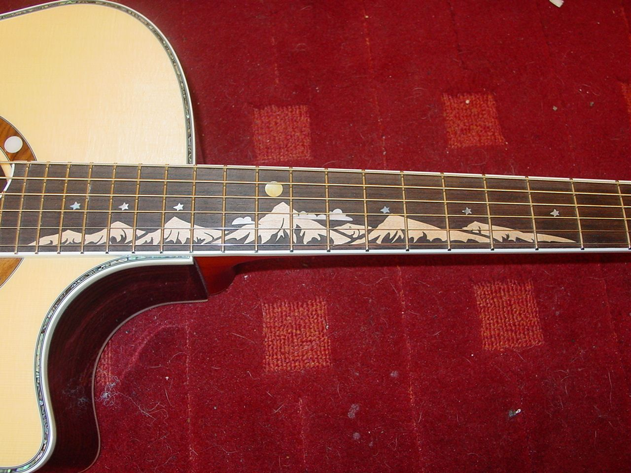 so you want to put mountains on a fretboard yes