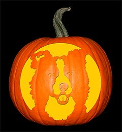 Border Collie Halloween Pumpkin Carving Stencils Halloween Stencils Pumpkin Carvings Stencils