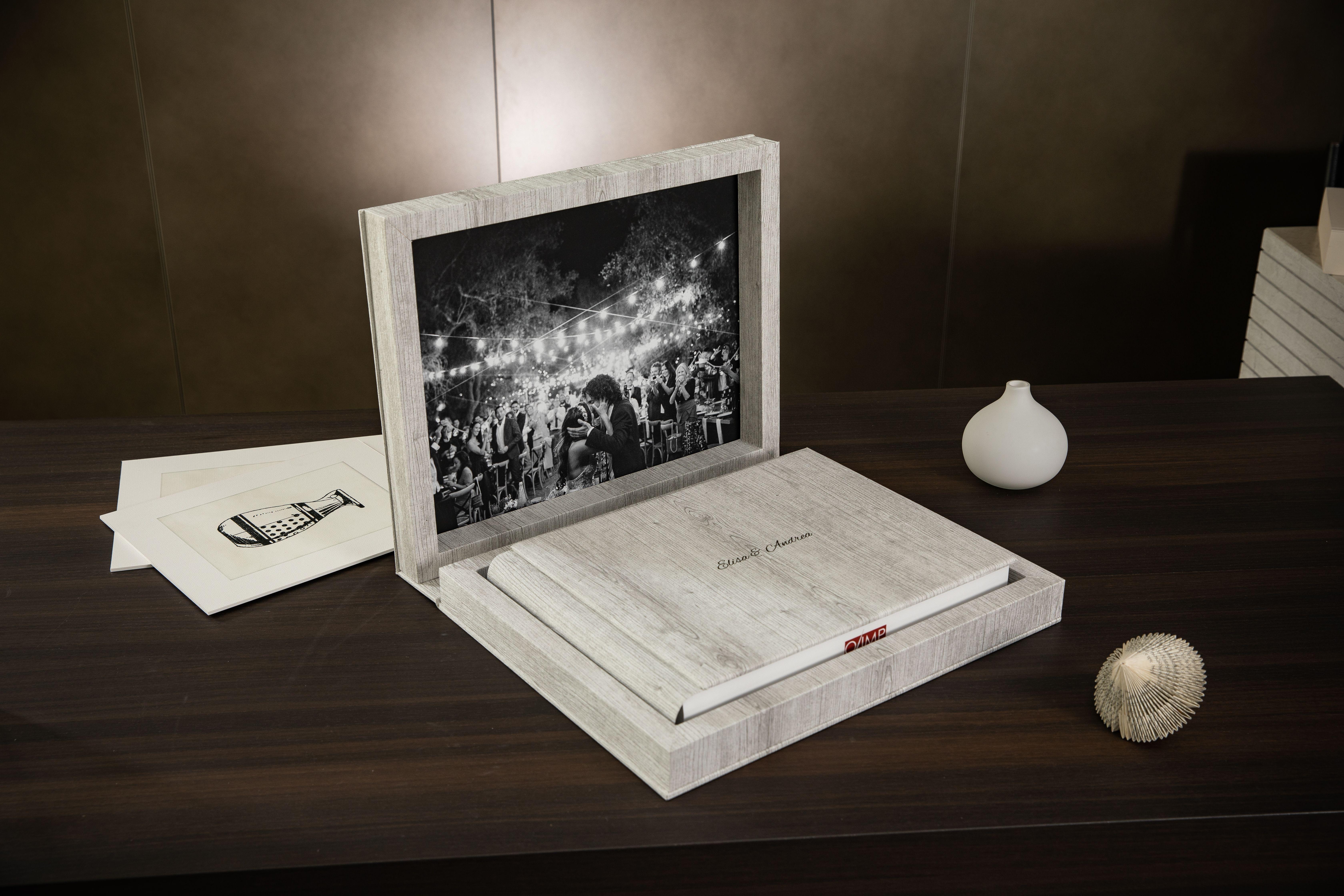 Album per matrimonio modello Wooden con Double Box abbinato