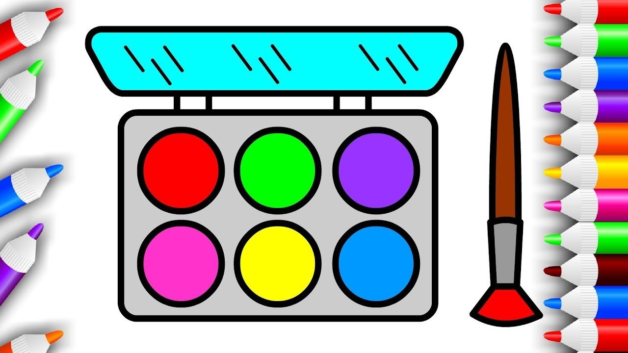 Learn Makeup Coloring Pages Eyeshadow Drawing Colouring