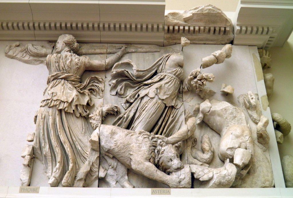 Phoebe Asteria South Frieze Gigantomachy Frieze Pergamon Altar Pergamon Museum Berlin Pergamon Pergamon Museum Roman Art