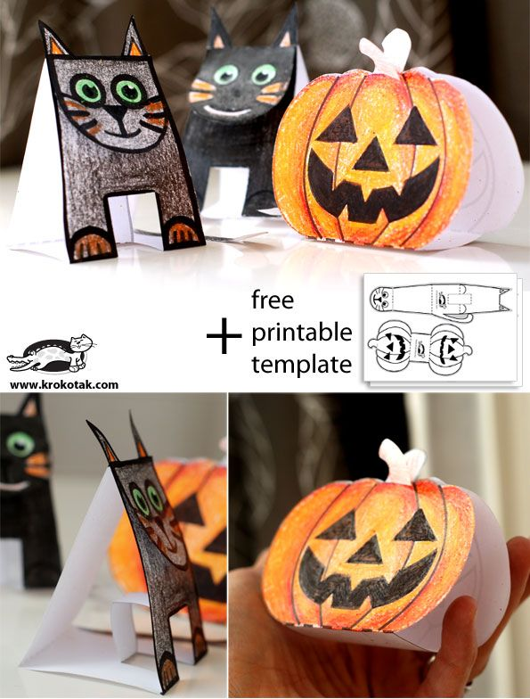 Print 25 of these templates and send to the reservation for a - easy homemade halloween decorations for kids