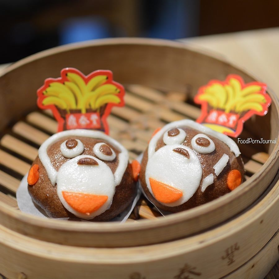 foodpornjournal on instagram cute chinese new year dumplings for the year of the monkey filled with chocolate and banana dintaifun food foodie food pictures pinterest