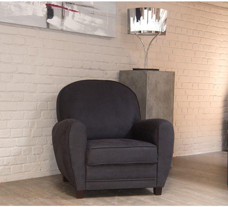 inspirant fauteuil cuir gris Décoration fran§aise