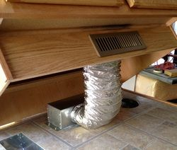 Heating Vent Redirect For Under Kitchen Cabinets