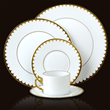 Lobjet | L'OBJET | Products | Fine Dinnerware Online | 1 | AEGEAN FILET | GOLD | DINNER PLATE