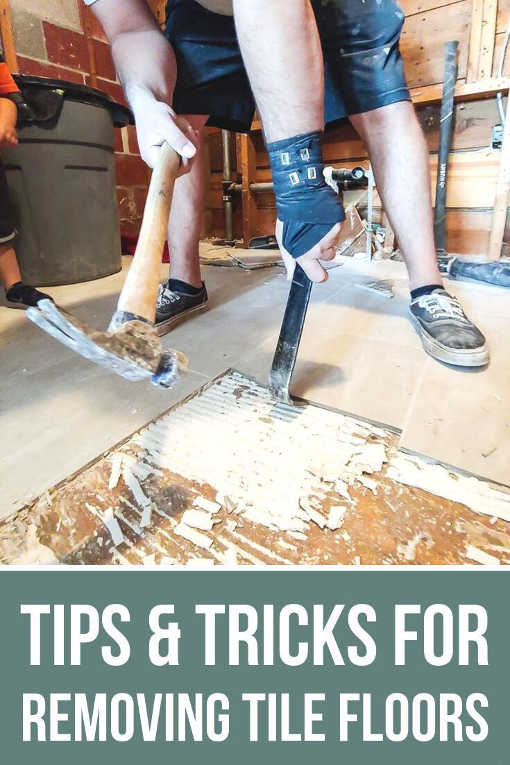 How to demo a bathroom removing tile floor tips tile