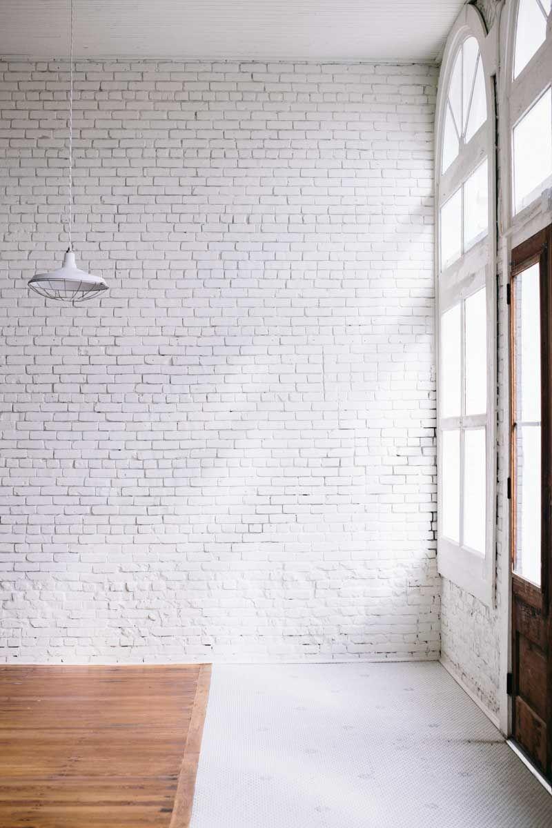 Studio Tour One Eleven East White Brick Walls Brick Interior