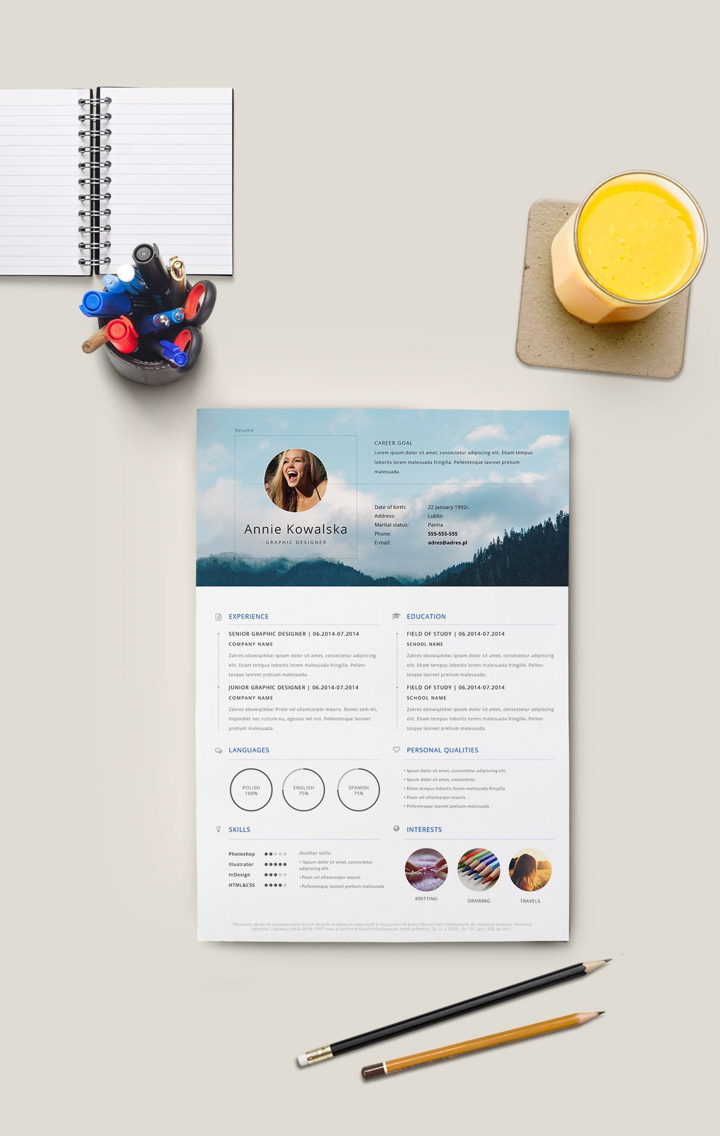 Free resume to download and edit._Darmowe CV do