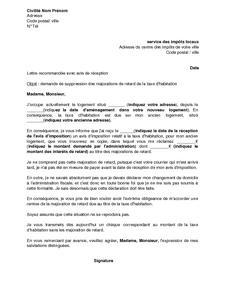 Lettre De Demande De Suppression Des Majorations De Retard De La