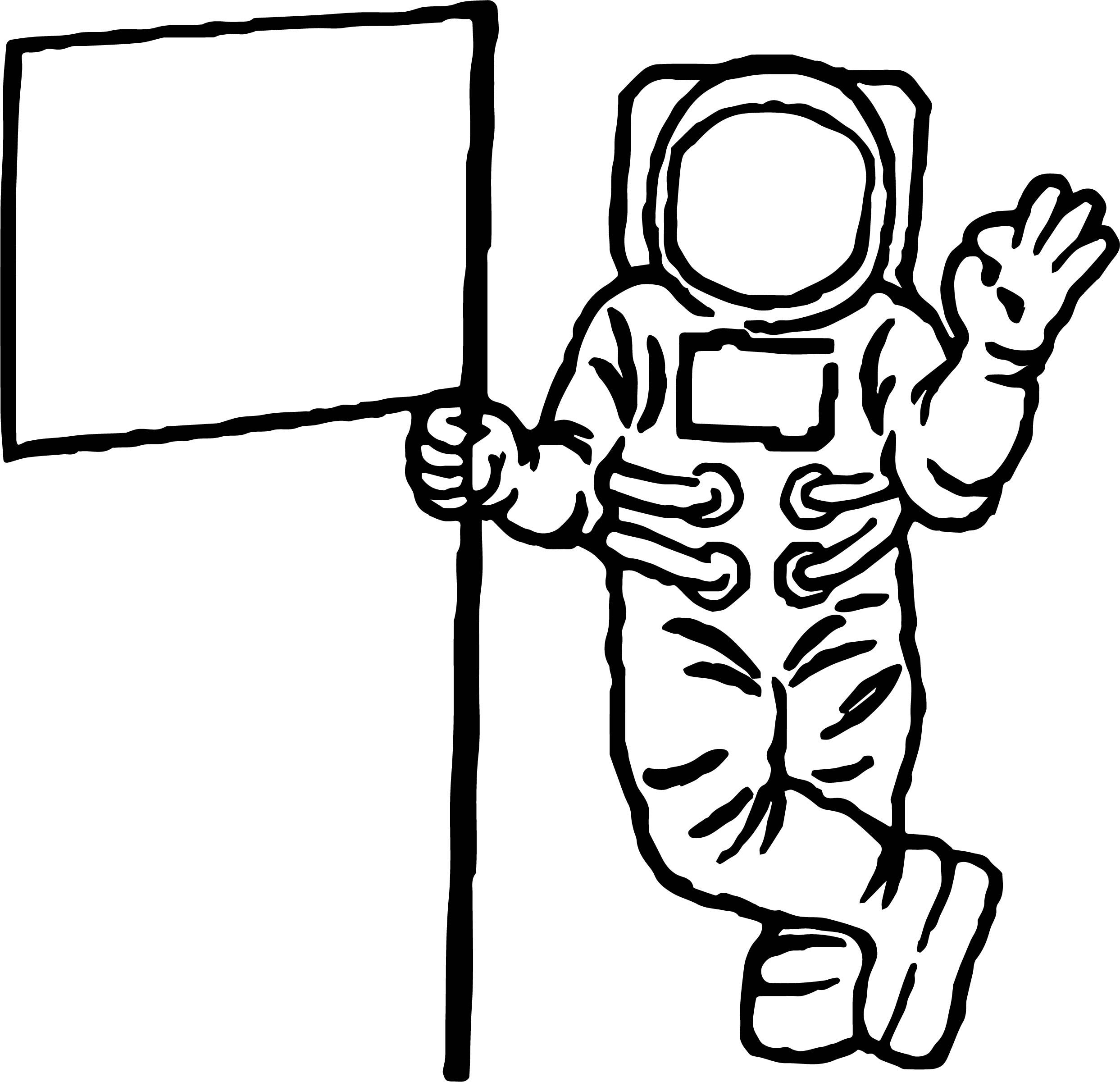 Nice Astronaut Flag Coloring Pages Astronaut Zeichnung
