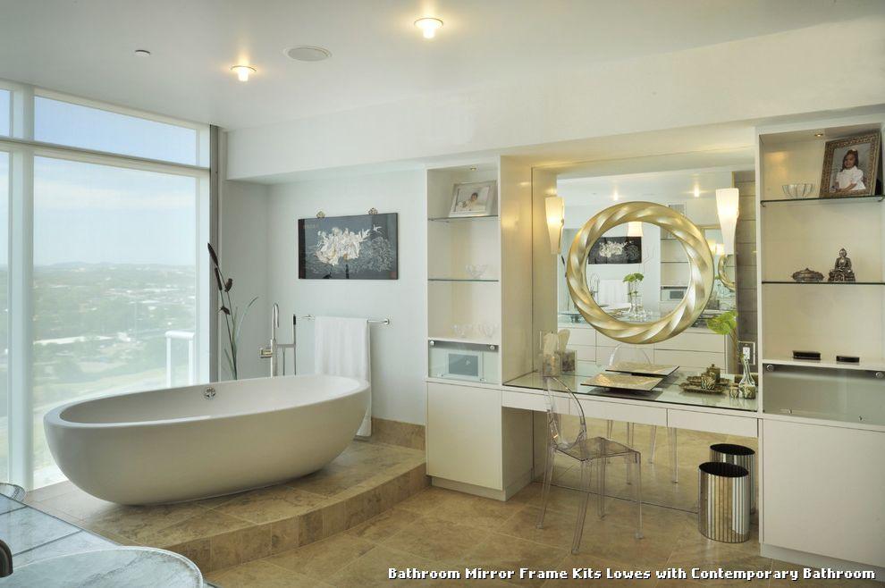 The Awesome Web Bathroom Bathroom Mirror Frame Kits Lowes